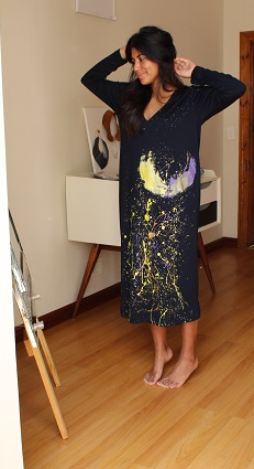 Cape Town - Human Image Paint Splattered Dress