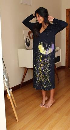 Cape Town - Human Image Paint Splattered Dress