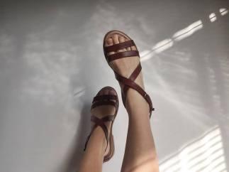 Durban: Jane Sews Leather Strap Sandal